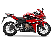Honda CBR 500R Graphite Black Silver Stripe Demak