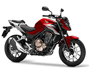 Honda CB 500F Candy Cromosphere Red Force Silver Metallic Palu